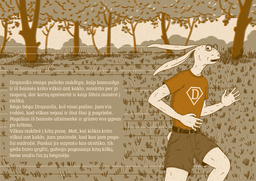 kiskis drasuolis illustration