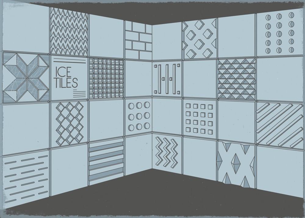 Dreams Ice tiles illustration