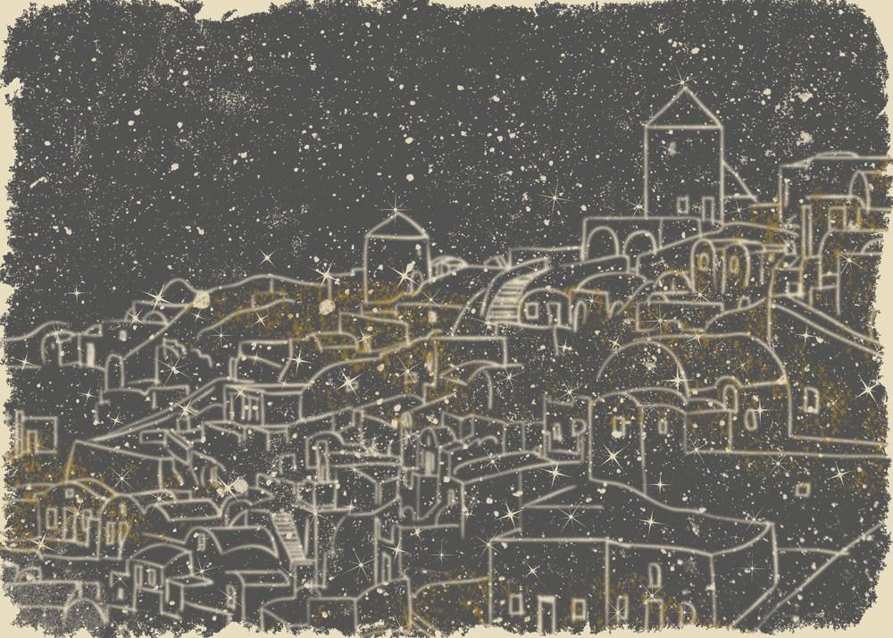 Dreams night city illustration