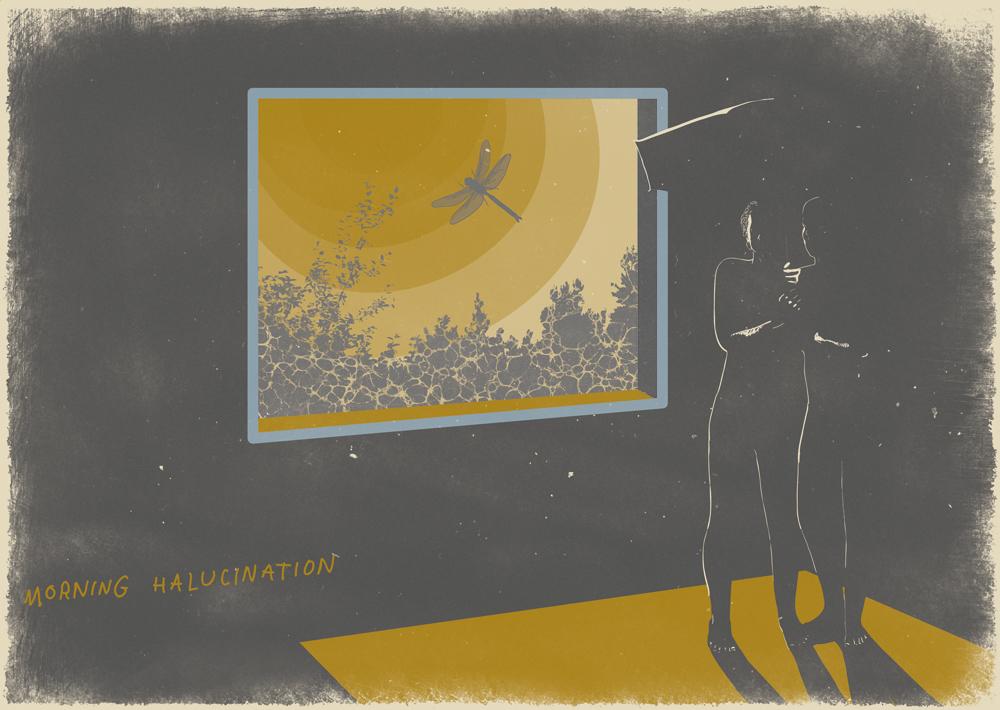 Dreams morning hallucination illustration