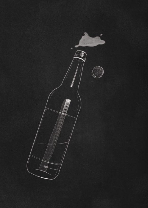 Vyno butelis m